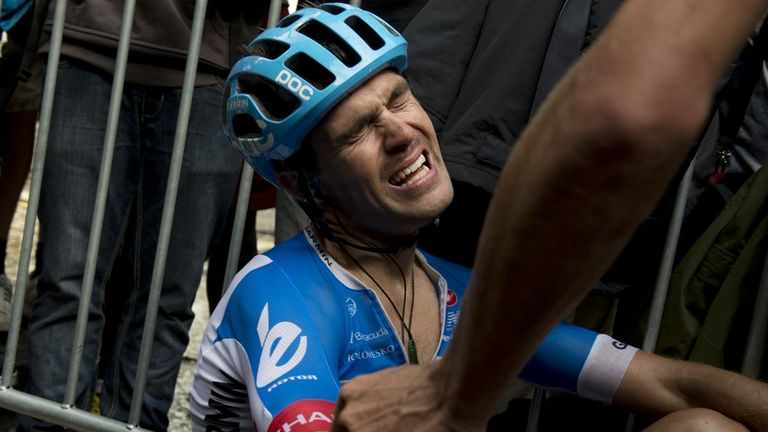 Jack Bauer was inconsolable at the finish line after missing out on victory on stage 15 of the Tour de France