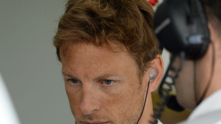 Jenson Button: Ninth fastest on Friday