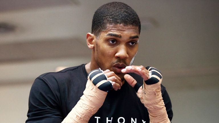 Anthony Joshua: Has been training hard for Matt Skelton