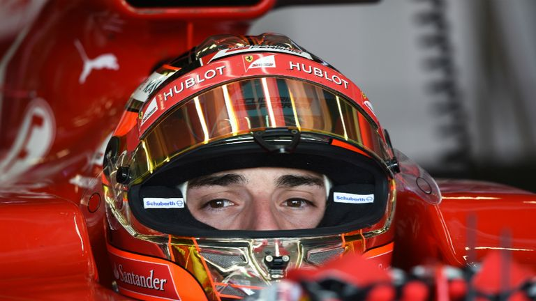 Fastest: Jules Bianchi tests for Ferrari