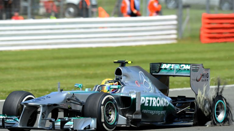 Blow-outs: Lewis Hamilton at 2013 British GP