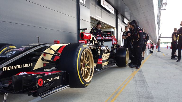 The Lotus on concept Pirelli 18 inch tyres