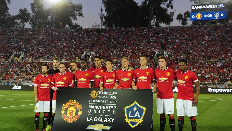 Manchester United's starting line-up against Los Angeles Galaxy