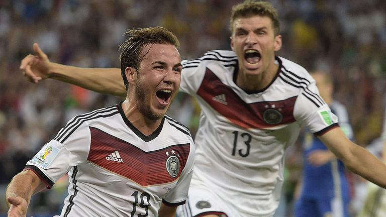 Mario Gotze: Celebrates his extra-time winner