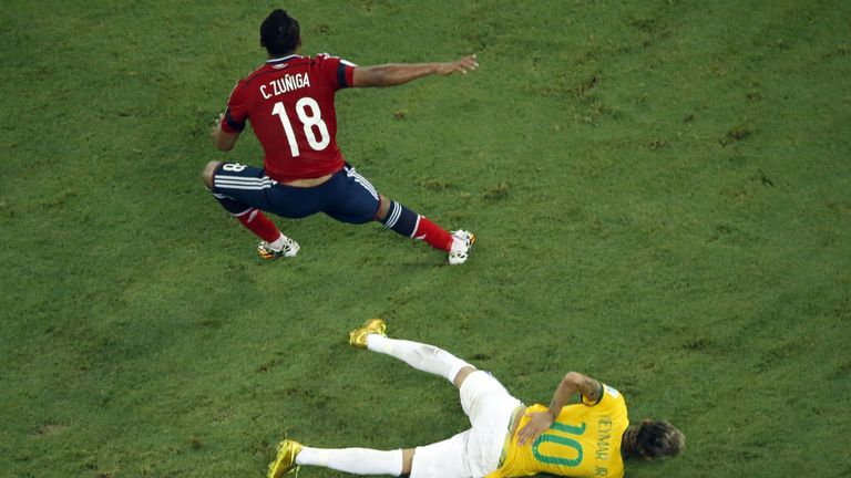 Zuniga: Challenge on Neymar was 'deliberate' according to Ronaldo