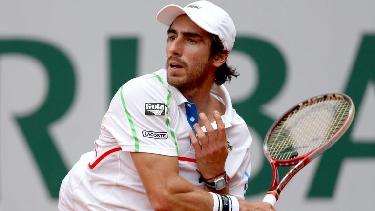 Pablo Cuevas of Uruguay reaches his second consecutive ATP final