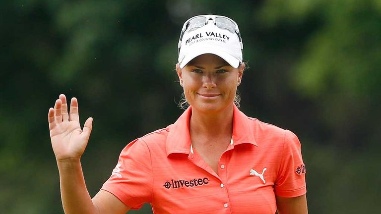 Lee-Anne Pace: Joint leader after third round of Marathon Classic