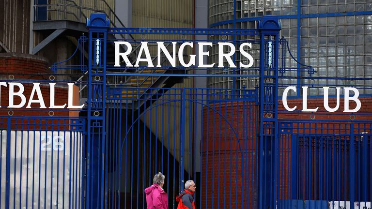 Ibrox Stadium, home of Glasgow Rangers