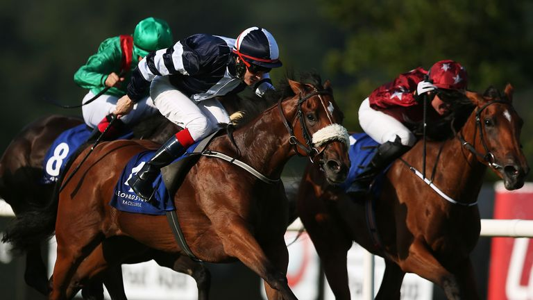 Jack Naylor on the way to winning the Jockey Club Of Turkey Silver Flash Stakes