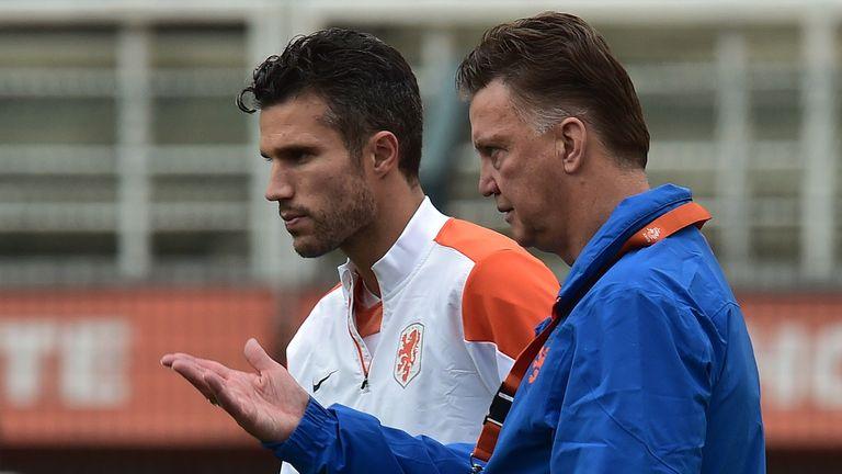 Van Persie and van Gaal: Close relationship