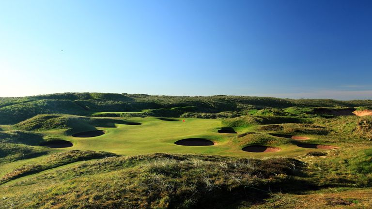 The rugged links of Royal Aberdeen. This is the par three 8th