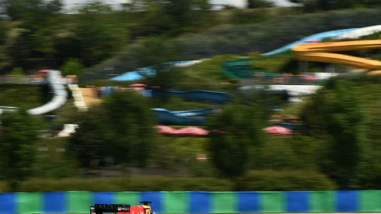 Sebastian Vettel at the Hungaroring on Friday