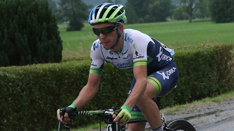Yates in action in stage eight's breakaway