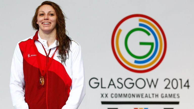 Sophie Taylor: Won gold in the women's 100m breaststroke final