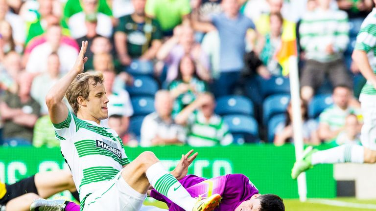Teemu Pukki: Celtic striker scores his second goal against KR Reykjavic