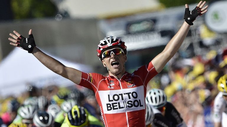 Tony Gallopin followed up wearing the yellow jersey by claiming his first Tour stage win