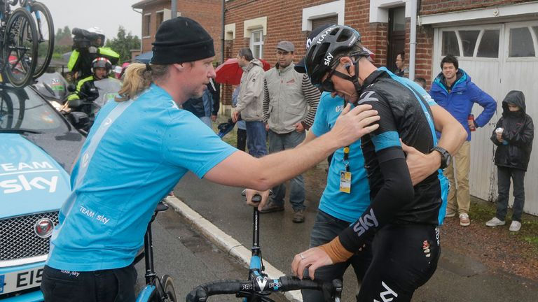 Chris Froome said he knew instantly that his race was over after his third crash