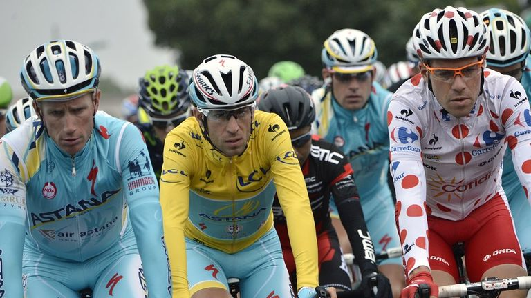 Vincenzo Nibali has held the yellow jersey since stage two