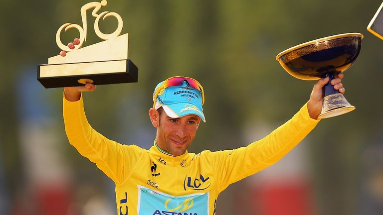 Vincenzo Nibali savours his success