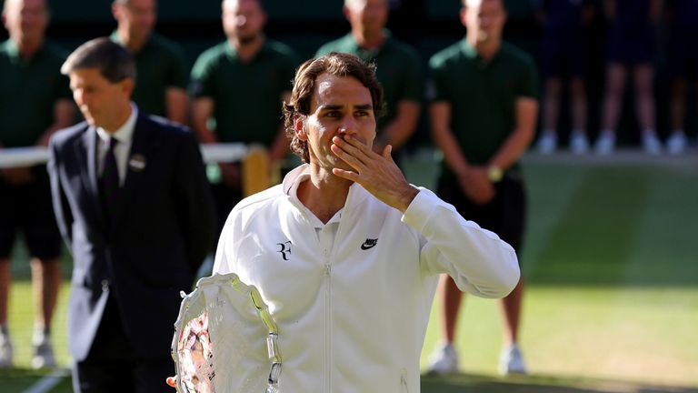 Roger Federer: hit 75 winners but still came up short