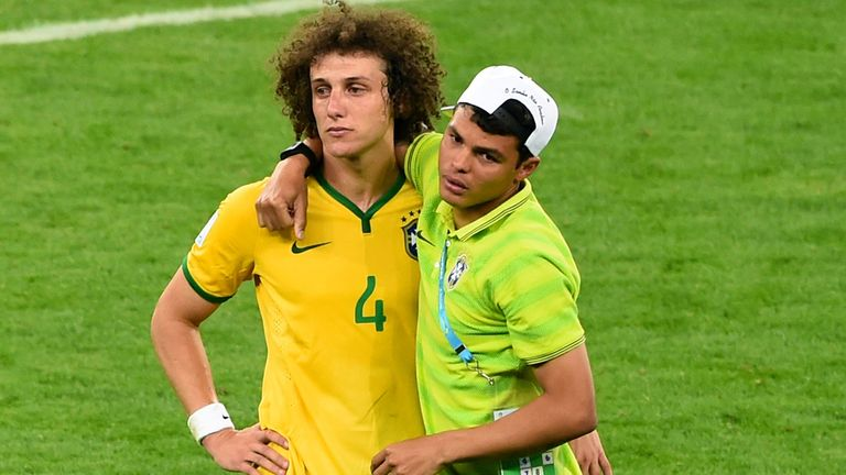 Thiago Silva: Consoles David Luiz after Germany's 7-1 victory