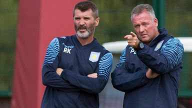 Paul Lambert (right): Villa manager happy with team