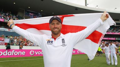 Matt Prior celebrates England