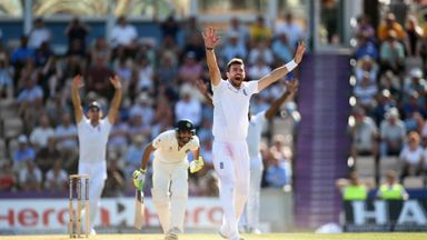 James Anderson: England seamer won lbw verdict against Ravindra Jadeja in the evening session