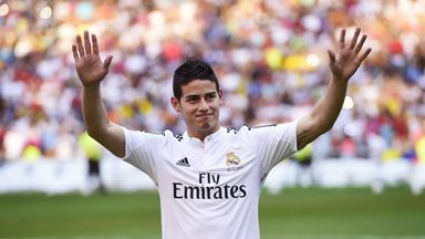 James Rodriguez was presented to the Real Madrid fans on Tuesday