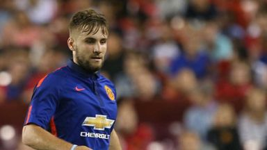Luke Shaw played the second half for Manchester United in Washington