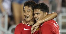 Reece James (right): Scored twice for United