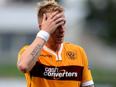 Craig Reid shows his disappointment after losing out to Stjarnan