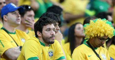 Brazil fans: Show their disbelief during defeat to Germany