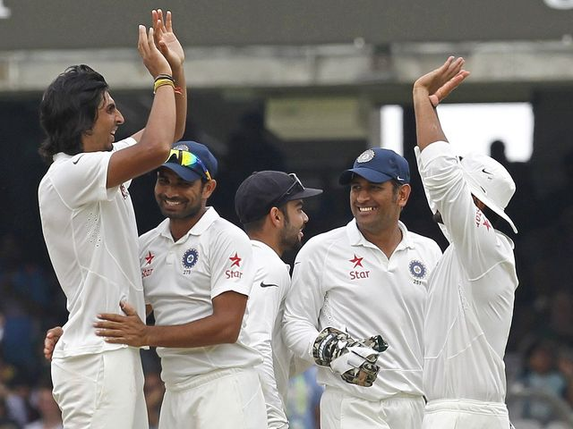 Celebrations for India on the final day at Lord's