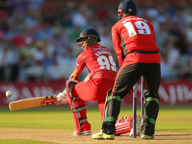Usman Khawaja in action for Lancashire Lightning