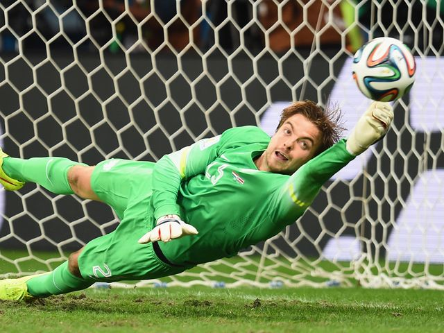 Tim Krul made a couple of stunning saves in the shootout