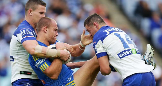 Lee Mossop (centre): Set to miss the end of season Four Nations tournament