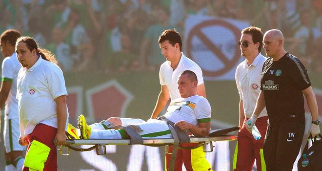 Scott Brown: Stretchered off one minute into draw against Rapid Vienna