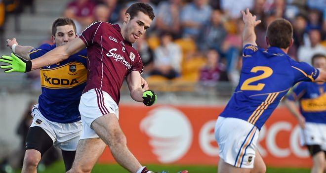 Ó'Curraoin: Scored Galway's first goal to put the Tribesmen on their way into the last-eight