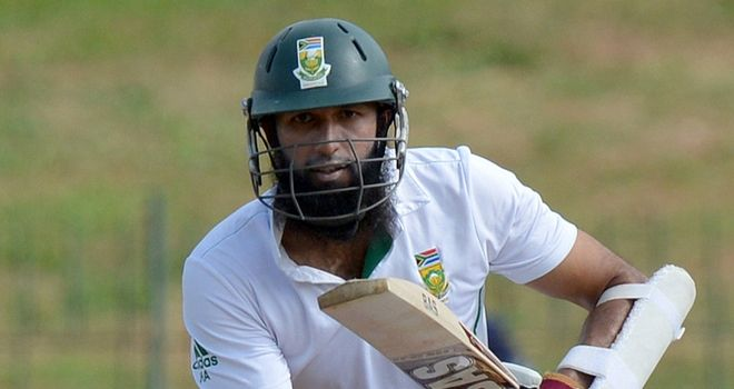 Hashim Amla: Helped South Africa see out the final day as they moved top of the Test rankings