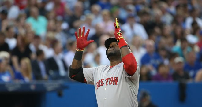 David Ortiz: Celebrates his two-run homer