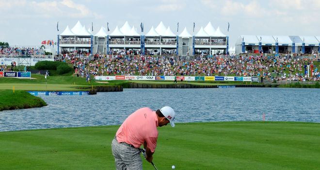 Graeme McDowell on the way to victory last year