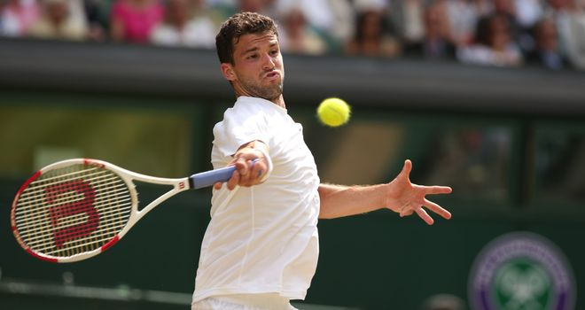 Grigor Dimitrov: ended Andy Murray's Wimbledon title defence in the quarter-finals