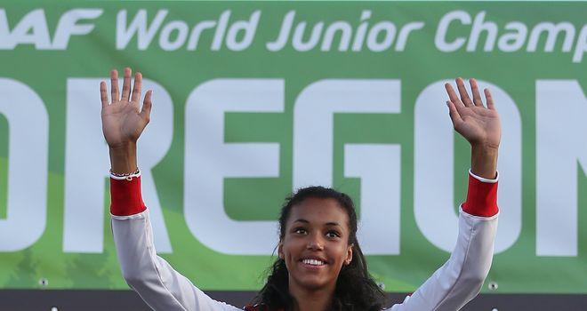 Morgan Lake: Celebrates winner her World Junior Championship gold
