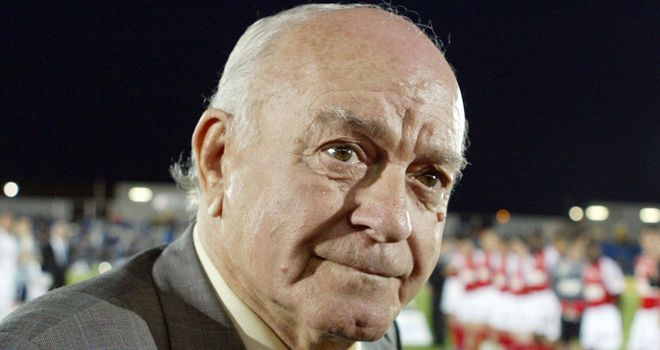 Alfredo Di Stefano who died in a Madrid hospital on Monday at the age of 88