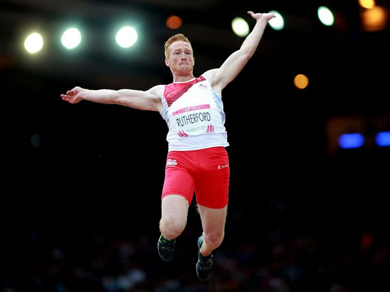 England's Greg Rutherford won gold in the long jump