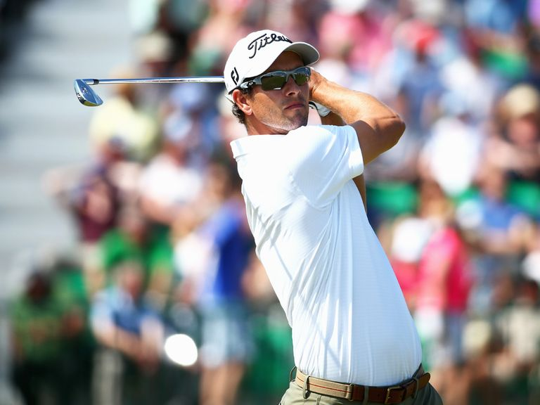 Adam Scott: Ended day one two shots behind Rory McIlroy