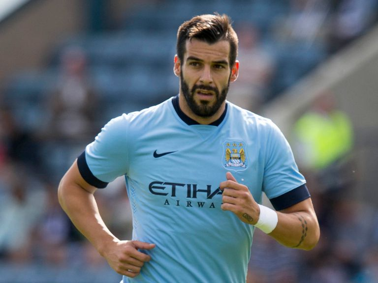 Alvaro Negredo: Injured in friendly at Hearts