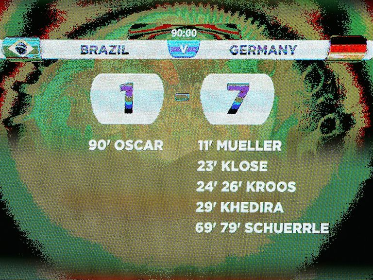 Germany beat Brazil 7-1 to reach the World Cup final