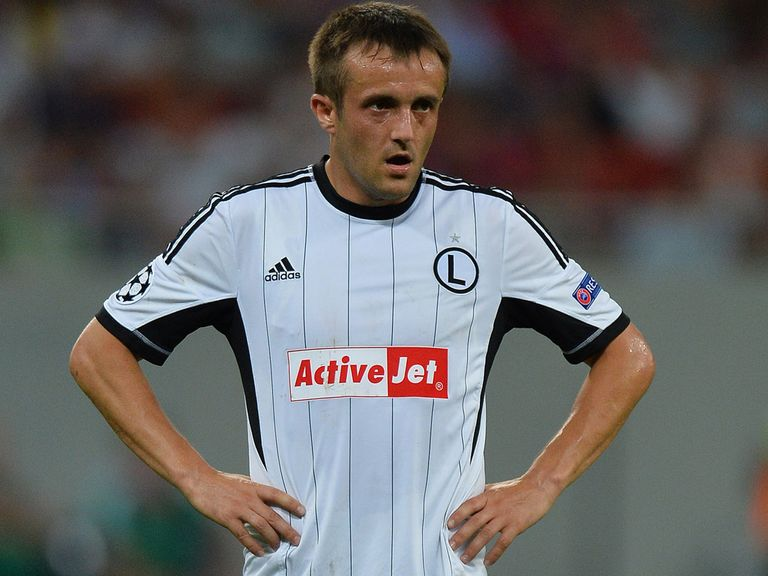 Miroslav Radovic: Scored twice for Legia Warsaw